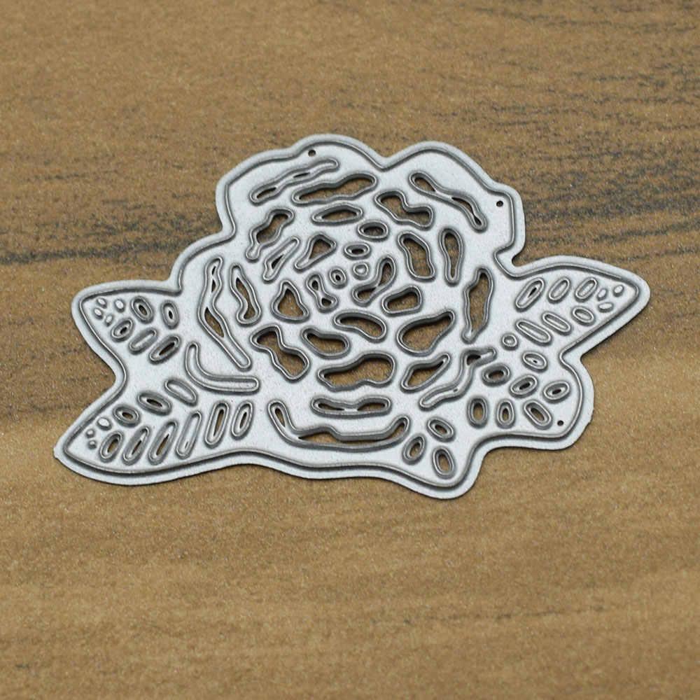 Круглая рамка цветок Вырубные штампы трафареты скрапбукинга металлические штампы DIY рельефная фотография открытки в альбом Набор для изготовления ремесленных штампов