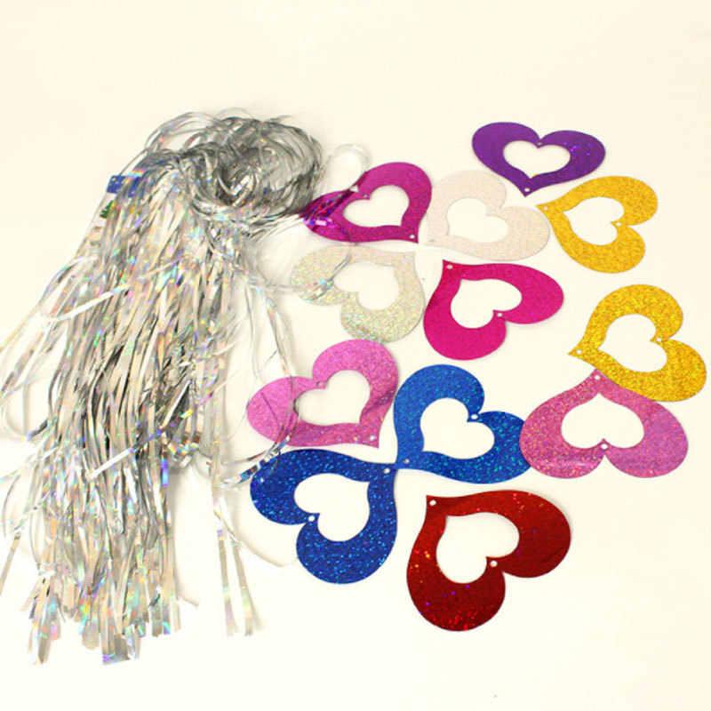 Фон в форме сердца полоса фольги занавеска с блестками день рождения дождь для украшения девушки Взрослые юбилей распродажа PY158