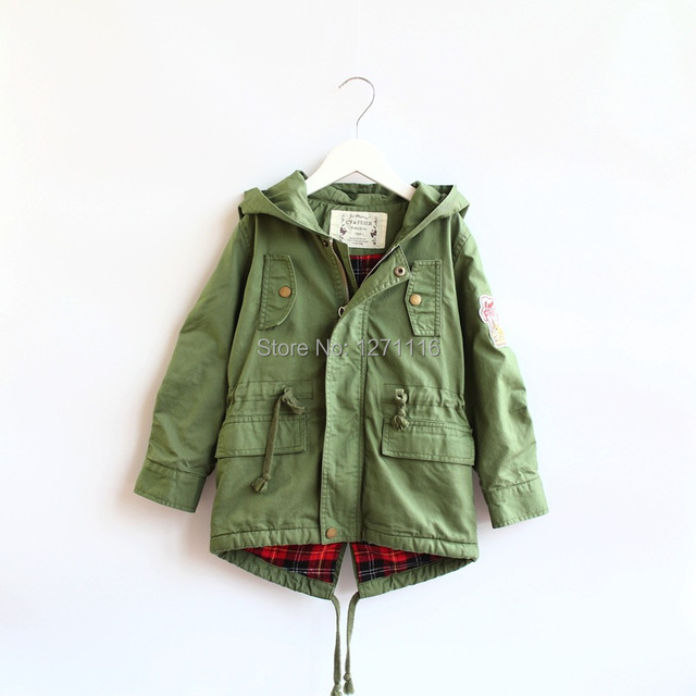 Free shipping new 2014 children's clothing coat autumn winte  fashion Army claaisc boys coat