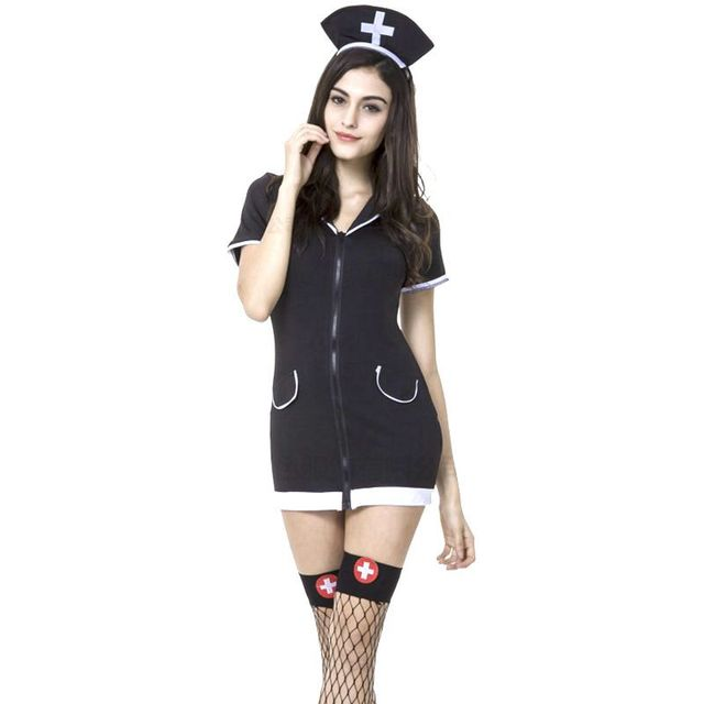 Sexy black nurse Halloween costumes for women oktoberfest costumes ...