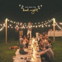 VNL White Wedding String Light Retro Garden Decorative Garland Light With 25 Clear Ball Bulbs For