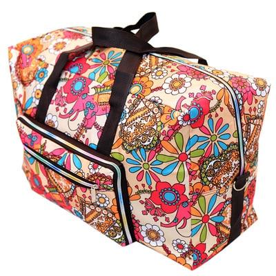 DITD 27 color Cartoon Elephant Foldable Travel Bag Large Capacity Waterproof Dog Printing Bags Portable Women's Tote camping bag