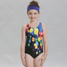 New one-piece suits  children's swimwear triangulargeometric style Swimsuit Girls  Sports Competition Professional Bathing Suits