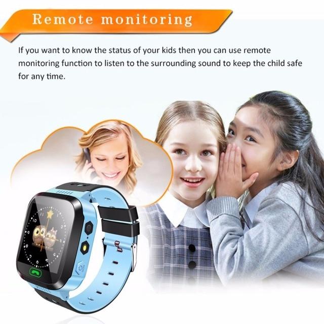 Smart Watch Kids Wristwatch Touch Screen GPRS Locator Tracker Anti-Lost Smartwatch Baby Watch With Remote Camera SIM Calls 2