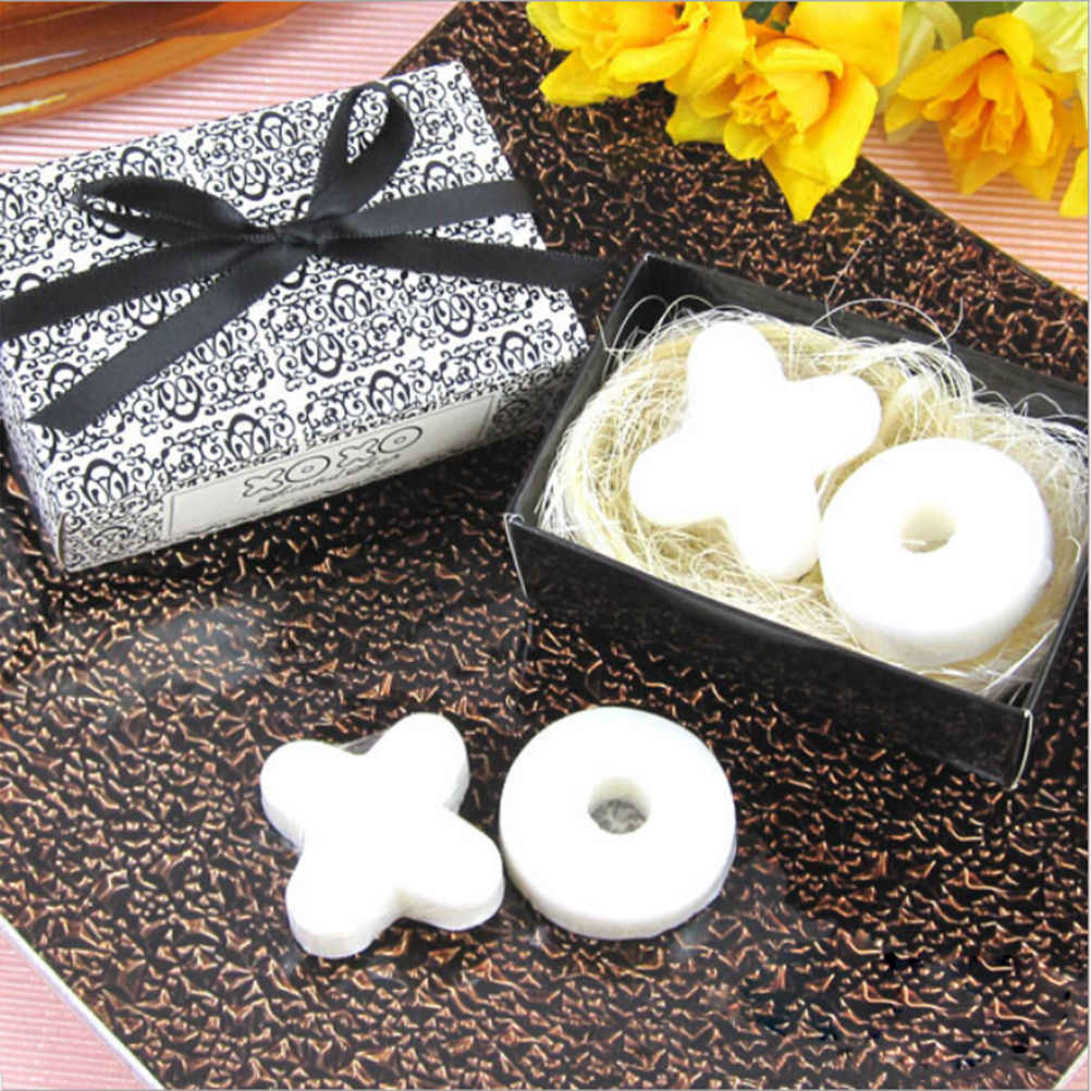 1pc Wedding Souvenirs Baby Shower Favor Gifts Wedding Soap Gifts For Guests Handmade Useful XO Scented Soap Wedding Favors Soap