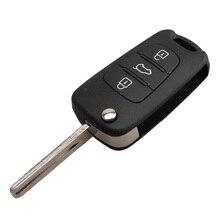 3 Botões Virar Folding Remoto Chave Fob Fit Para Hyundai Elantra 2010-2015 433 MHz Chip ID46 Lâmina TOY40 Substituição Reequipamento Carro chave