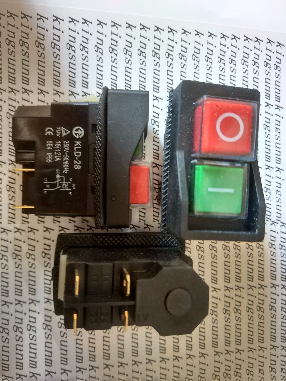 5pcs Magnetic button switch KLD-28A KLD-28 220V waterproof explosion proof KJD17B electromagnetic switch a b art kld 107