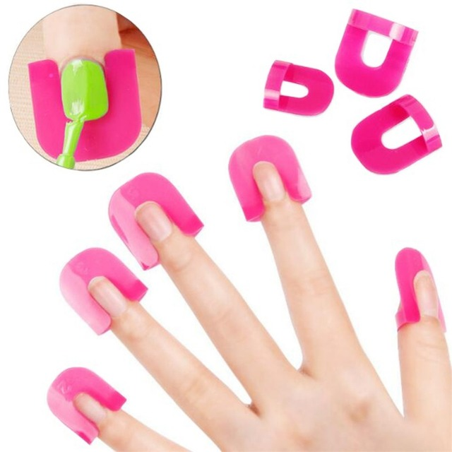 1 Set 26pcs Nail Gel Polish Protector Creative Spill Resistant Manicure Finger Cover