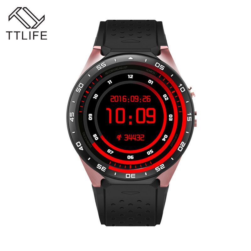 Hot TTLIFE Brand Support 3G Wifi SIM WCDMA Heart Rate android OS Smart Watches Touch Screen