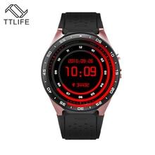 Heißer TTLIFE Marke Unterstützung 3G Wifi SIM WCDMA Herzfrequenz android OS Smart Uhren Touchscreen 1,39 Zoll 400*400 SmartWatch telefon