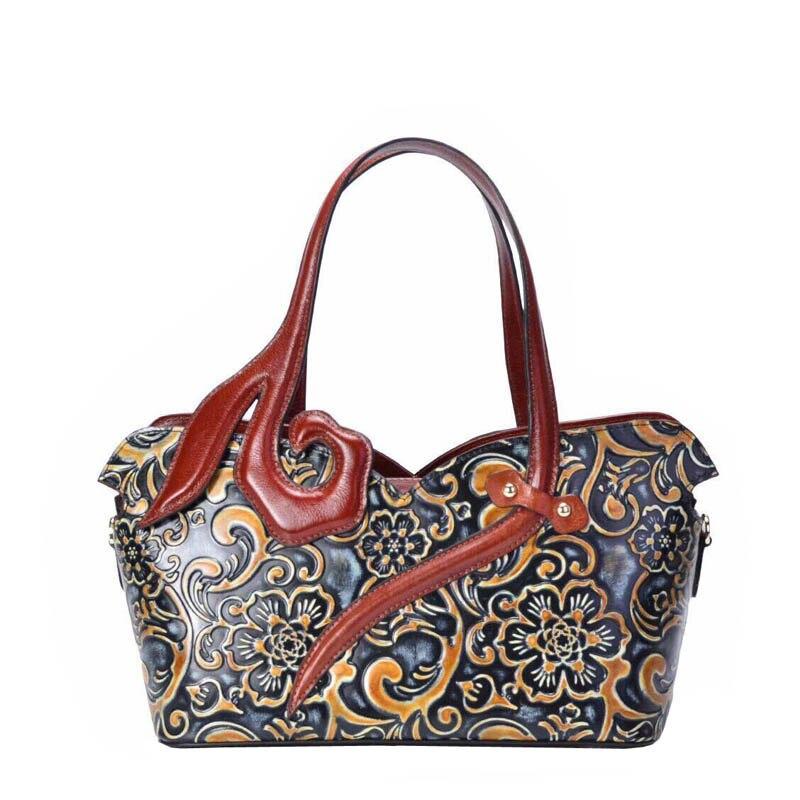 SUWERER 2018 Nouvelles Femmes Véritable sacs En Cuir À La Main gaufrage Rétro de luxe en cuir sac à bandoulière designer femmes célèbres marques