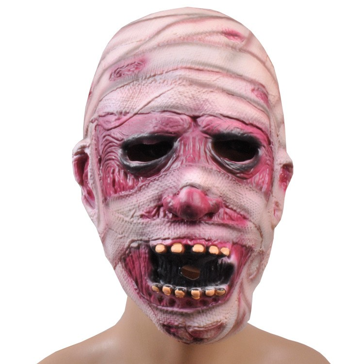 halloween mask mummy bandages mask creepy latex realistic crazy rubber super creepy party mask halloween costume - Cheap Creepy Halloween Costumes