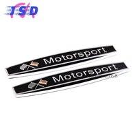 Car Side Fender Stickers Auto Metal Badge Emblem Decorative Decals For Germany Flag Motorsport Logo For