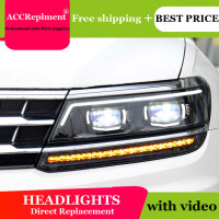 AUTO PRO 2017 For vw tiguan headlights car styling Q5 bi xenon lens LED 2017 High brightness led xenon H7 led parking