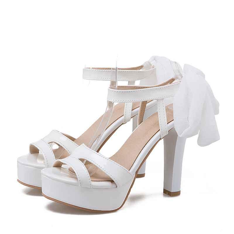 BLXQPYT 2018 Hot Sandals Phụ Nữ Sexy thời trang Big Size 31-47 Lady Giày Siêu Cao Gót Phụ Nữ Bơm wedding Party giày T861