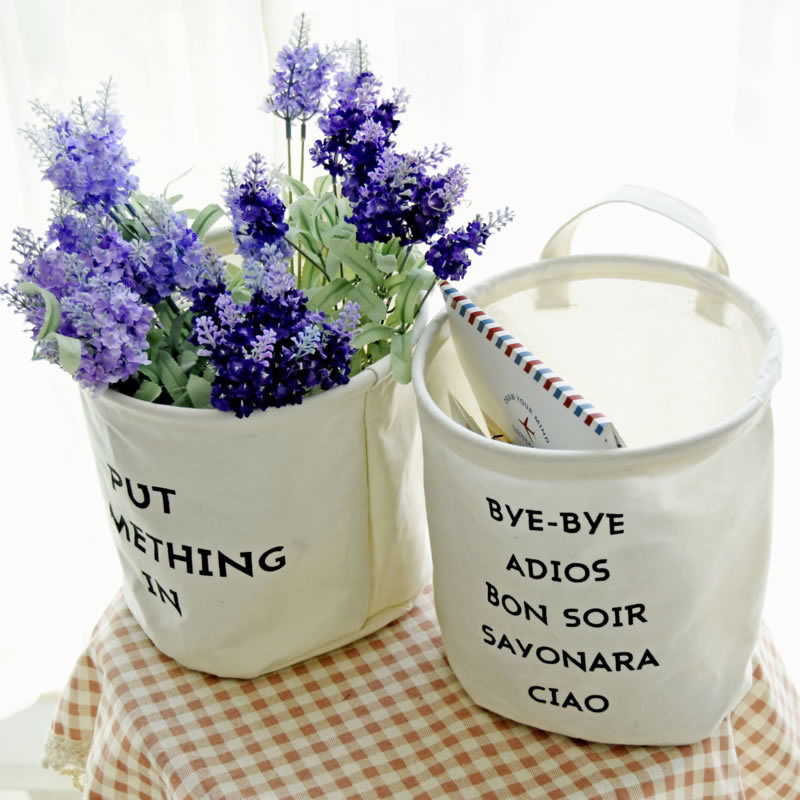1PC Clothes Laundry Basket Toy Storage Waterproof Storage Decorative Pots Baby Orgnizer