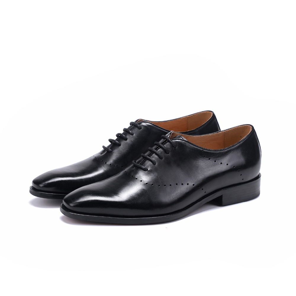 Sapatas Sapatos 19503 Black Oxford Preto Esculpida Boi De Homens Vestido Derby Dos Para coffee Café Genuíno Negócios Couro Novos 5Bwqax5g