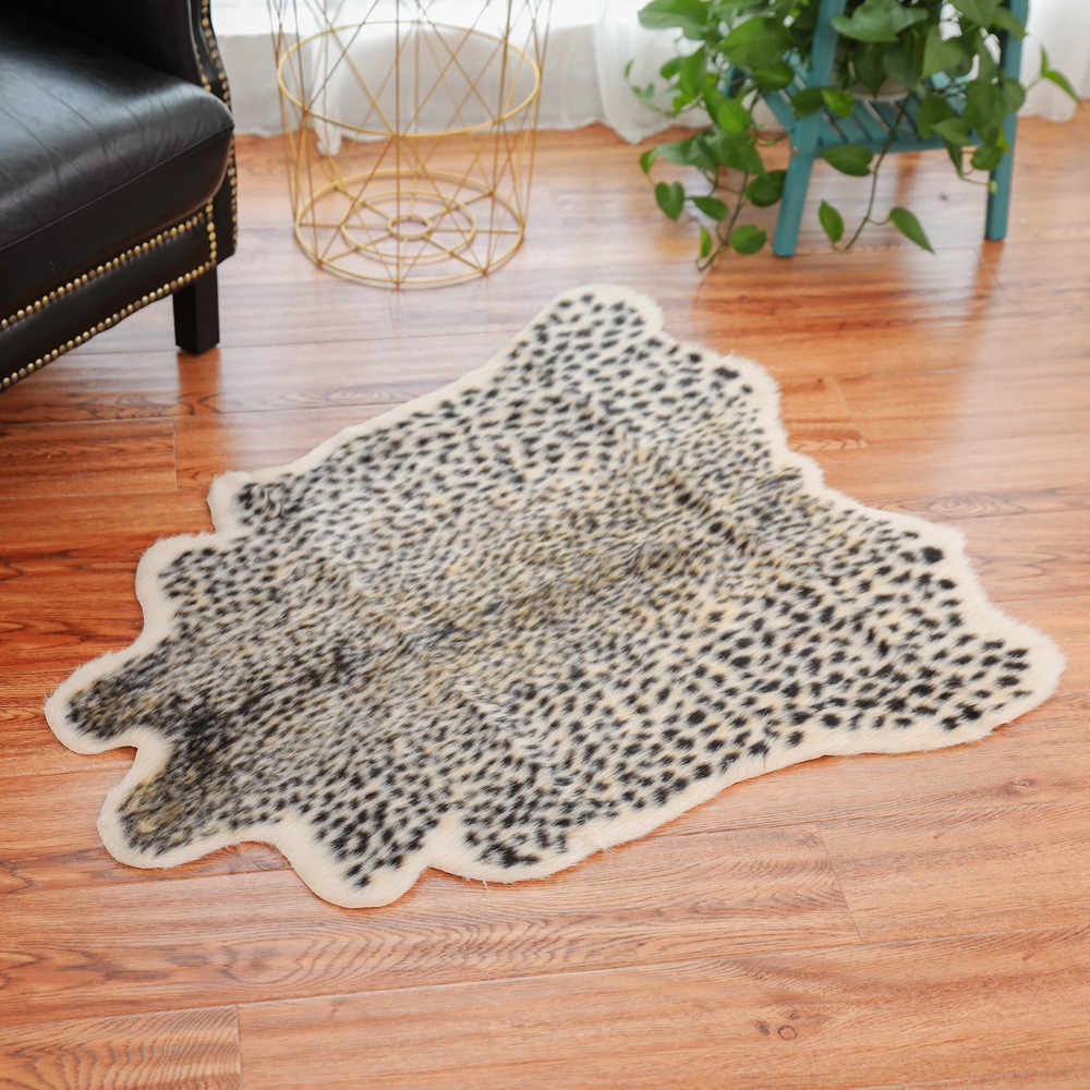 Cow Zebra Carpet For Living Room Cow Rug Simulation Animal Skin Bedroom  Study Carpets Shaggy Mats