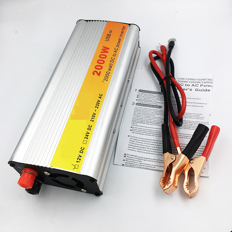 เดิม2000วัตต์เต็มรถอินเวอร์เตอร์DC 12โวลต์เป็นไฟฟ้ากระแสสลับ220โวลต์ชาร์จไฟอินเวอร์เตอร์หม้อแ...