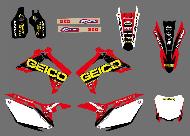 new style ( 0409) TEAM GRAPHICS DECALS Sticker For Honda ...