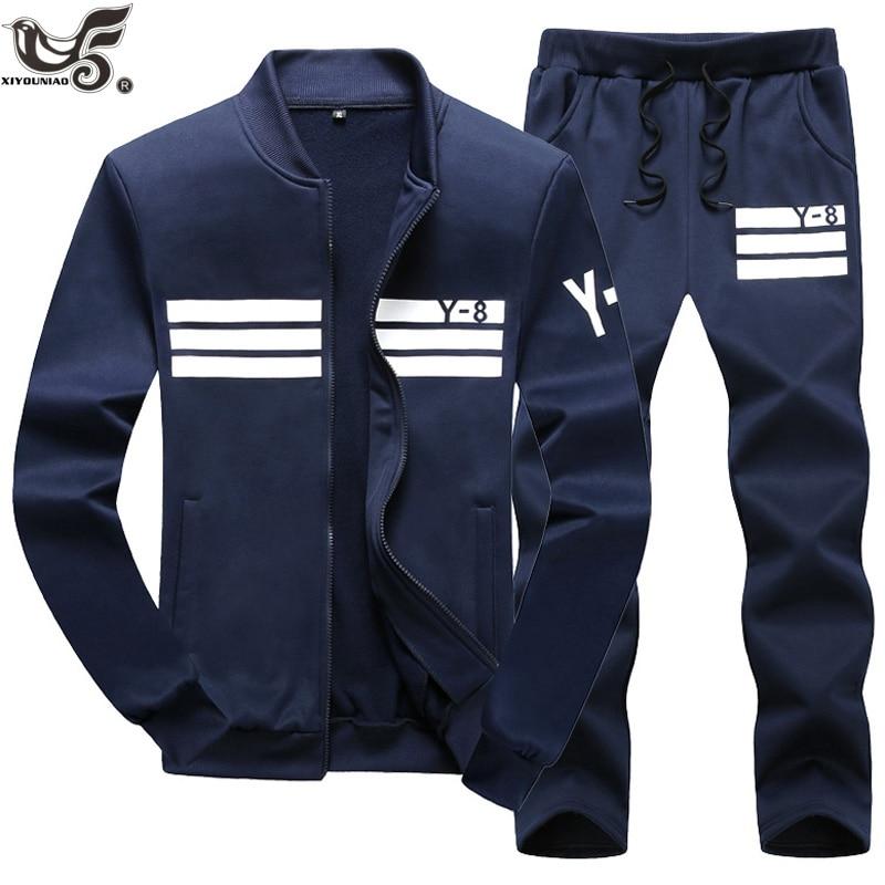 XIYOUNIAO Plus Size M~7XL8XL9XL New Men's Sporting Suit Male Tracksuit Men Spring Autumn Casual Sportswear Set 2PC Jacket+Pants