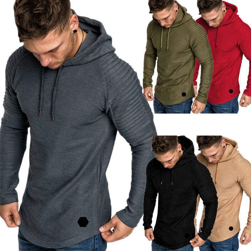 男性のファッション冬のデザインパーカー暖かいフード付きジャケット生き抜く新メンズヒップスター長袖 Tシャツシャツ