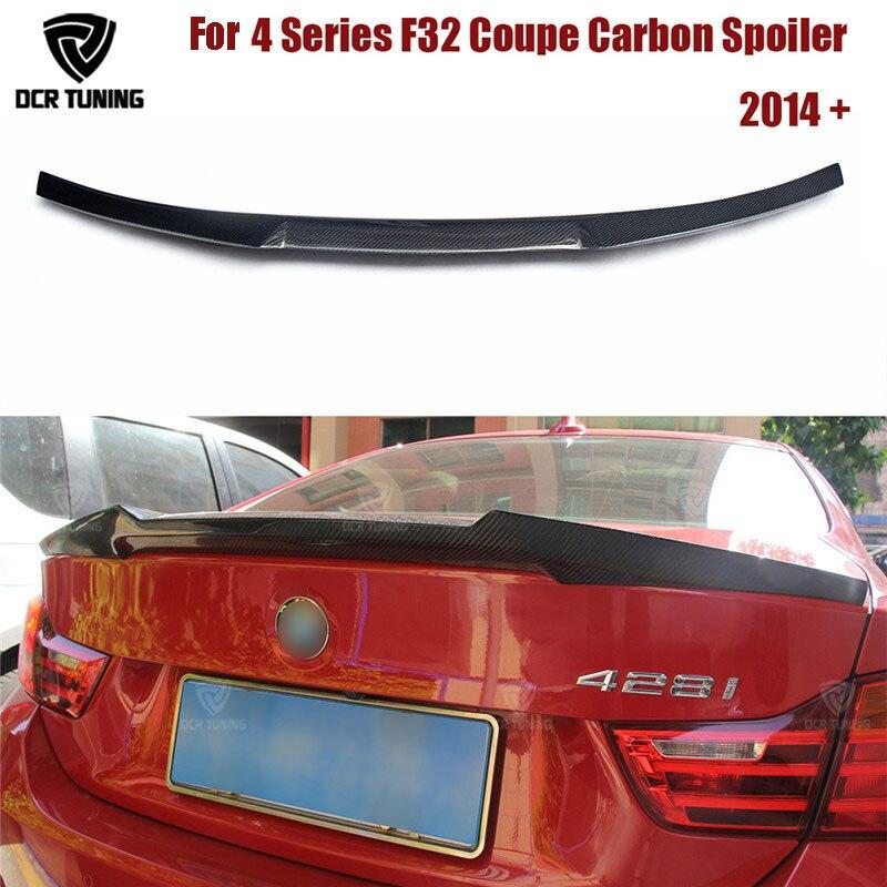 For BMW F32 Carbon Spoiler 4 Series 420i 428i 430i 2 Door Coupe F32 Carbon Fiber