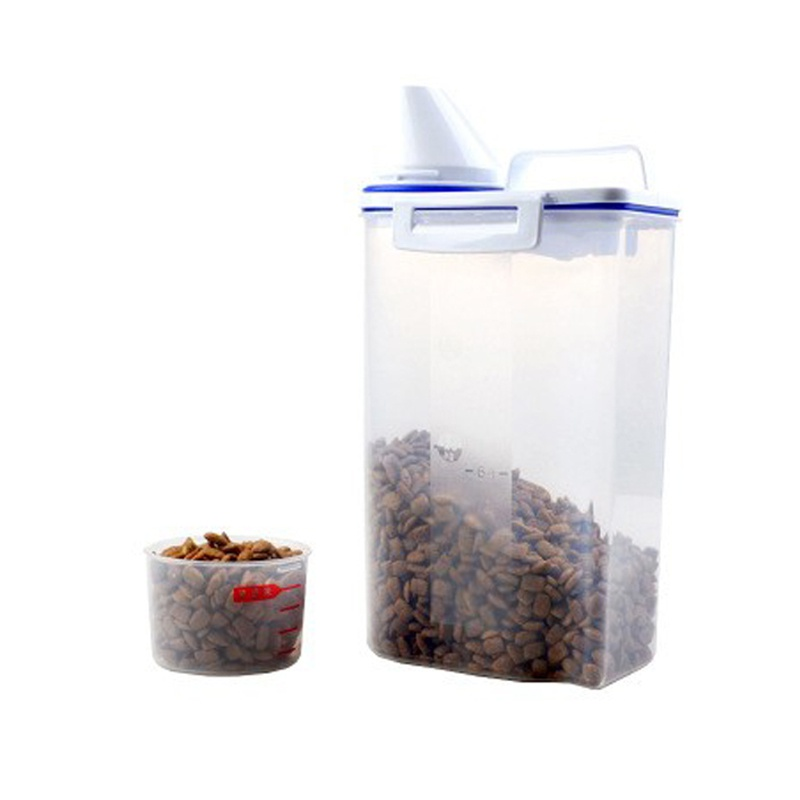 Food Dispenser Pet Container With Pour Spout Food Storage Tank Seal Buckles 2500 ml Food storage containers