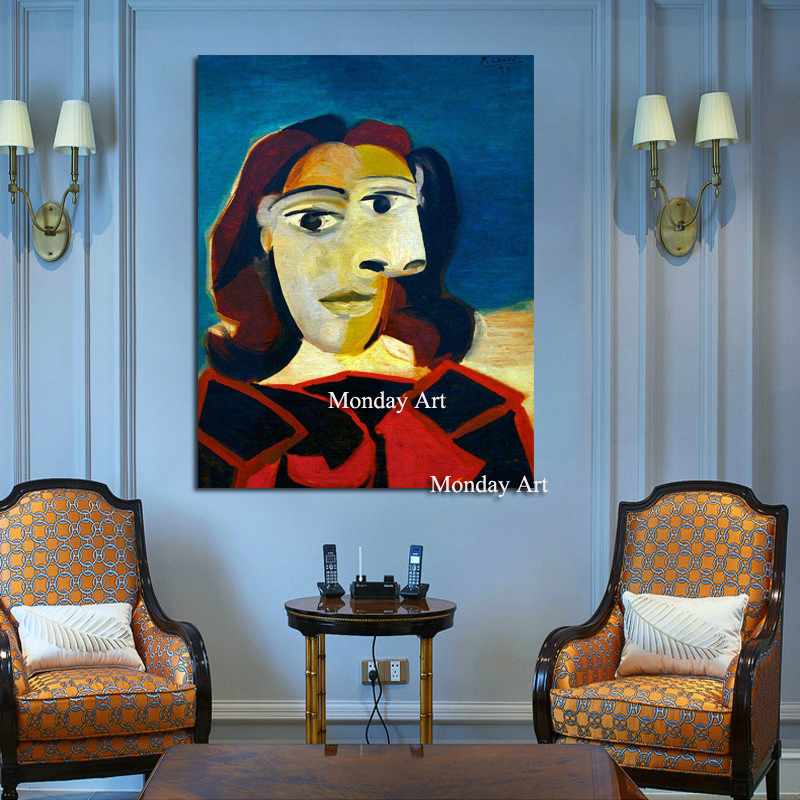 Top Sell Famous Painting Seated Women beside the window By Pablo Picasso Modern Abstract Portrait Wall Pictures for Home Decor