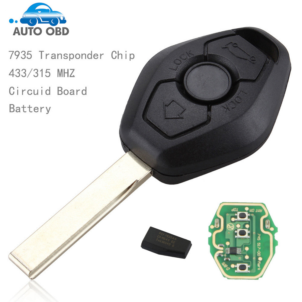 Bmw x3 parts for sale - 433 315mhz Replacement Exchanged Remote Key Entry Fob Transmitter Uncut Blade For Bmw X3 X5
