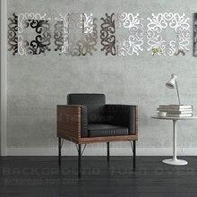 mirror stickers. diy elegant flower square ring acrylic wall mirror sticker 3d sofa tv backdrop stickers home