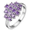 Bling púrpura circón anillo de plata fina moda Women & Men Silver regalo joyería para mujeres, / IPFWNMPK VAHQKLHJ