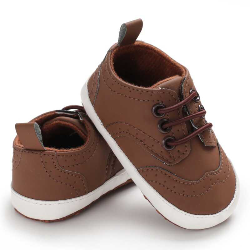 Baby Boy Toddler Shoes Casual Skid Toddler Shoes PU Material Infant Toddler Soft Sole Anti-slip Baby Shoes For 0-18M