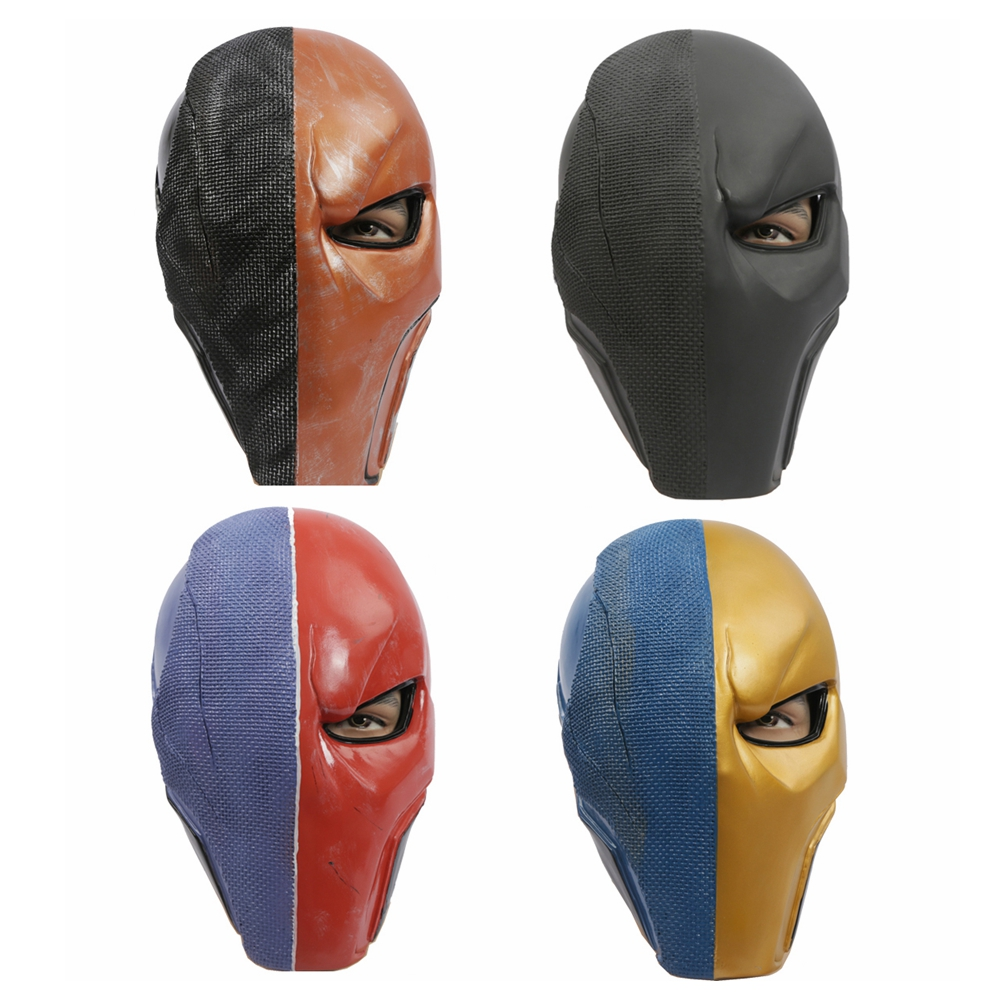 Coslive Batman Mask Deathstroke Cosplay Full Face PVC Halloween Mask Costume Accessories