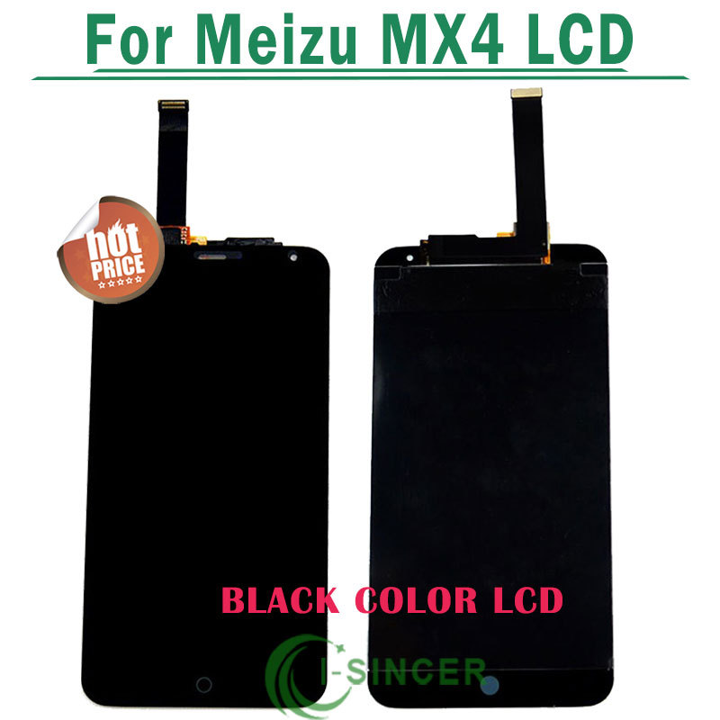 10/PCS Black White For MEIZU MX4 Touch screen +Lcd display Touch digitizer glass Touch panel assembly Free DHL