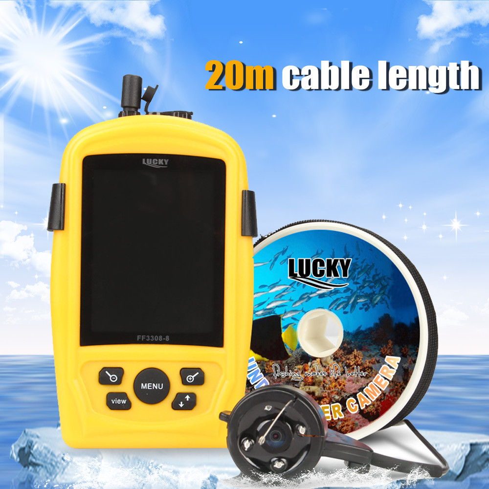 Lucky fish finder ff3308 8 underwater fishing inspection for Lucky fish finder