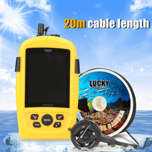 LUCKY Fish Finder FF3308-8 Underwater Fishing & Inspection Camera System CMD Sensor 3.5 inch TFT RGB Monitor FishSea 20M Cable