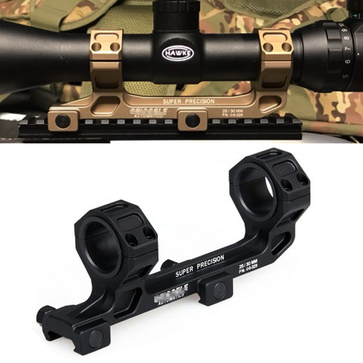 Tactical GE Automatics AR15 Scope Mount for Optical Sight Mount 25.4mm/30mm Rings Riflescope Mount NO Bubble Level For 20mm Rail(China)