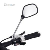 Deemount 1 Pair Bicycle Rear View Glass Mirror Bike Handlebar Wide Range Back Sight Light Reflector