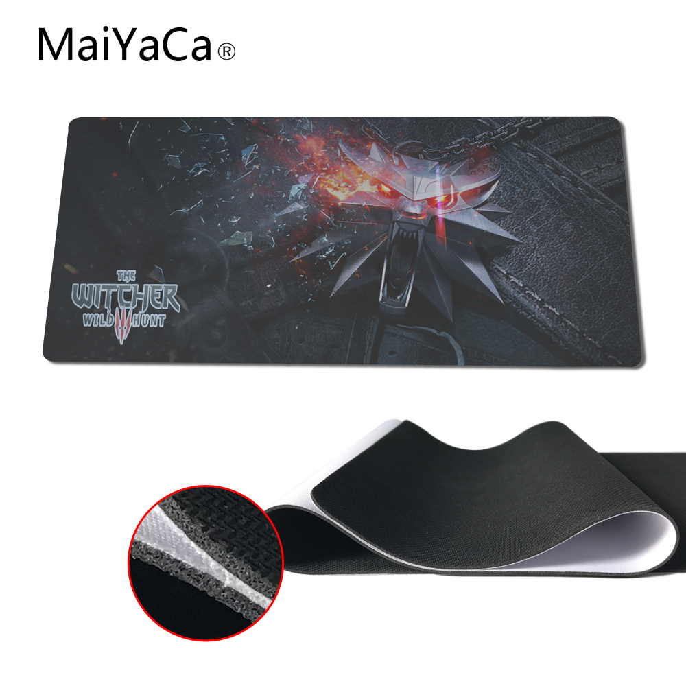 MaiYaCa Brand New The Witcher Wild Hunt Logo Gaming Mousepad Anti-Slip Computer Desk Mousemat Duranle Rubber Mice Play Mats
