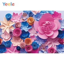 Yeele Multicolored Paper Flowers Graceful Scene Decor Kid Photography Backgrounds Custom Photographic Backdrops For Photo Studio