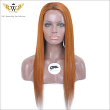 5A 150 Density Ombre Brazilian Straight Human Hair Full Lace Wigs Virgin Lace Front Wig Human Hair Silky Long Straight Lace Wigs