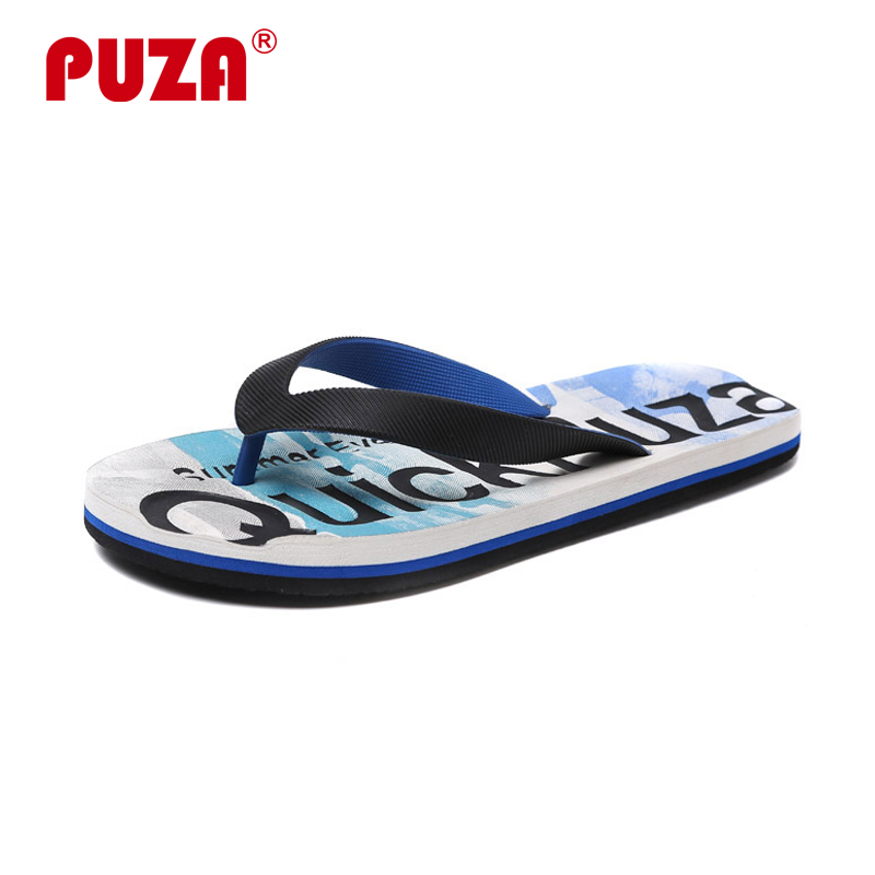 PUZA 2018 New Arrival Summer Men Flip Flops High Quality Beach Sandals Non-slide Male Slippers Hombre Shoes