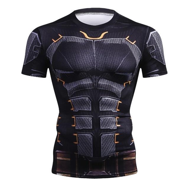 חדש קיץ מארוול חולצה 3D סופרמן/ספיידרמן/באטמן/שחור פנתר גברים T חולצה קצר שרוול דחיסה קרוספיט טי