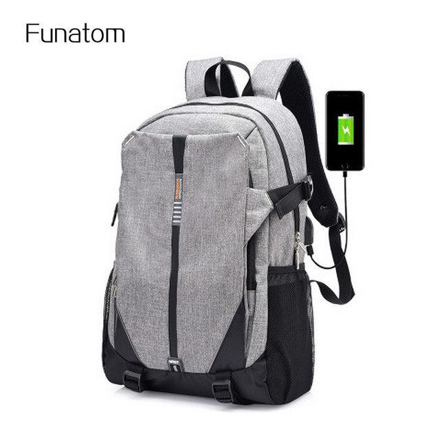 Canvas Men Backpack Cool 2017 High School Bags For Age Book Bag Boys S Usb