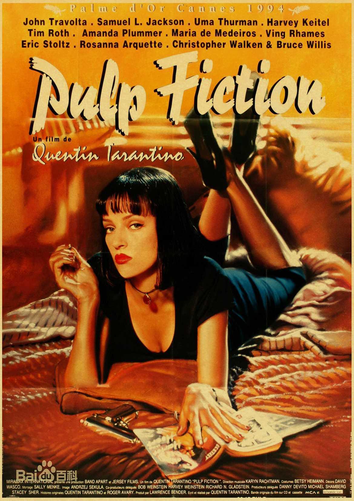 Vintage Poster classic movie Pulp Fiction / Kill Bill/Fight Club poster Retro kraft paper posters decorative art painting