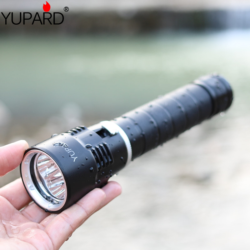 YUPARD Waterproof Underwater diving diver 3*XM-L2 LED Flashlight Torch Lamp Ligh T6 diver 30m outdoor sport camp fishing