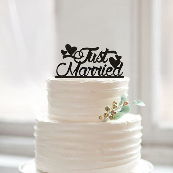unique wedding cake toppers just married cake topper unique wedding cake toppers 8178