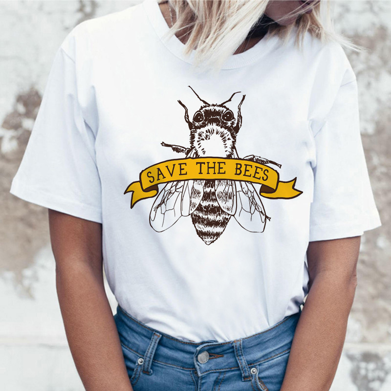 vegan Save The Bees women   t     shirt   women tshirt top tee   shirts     t  -  shirt   korean female kawaii harajuku 2019 graphic ulzzang new