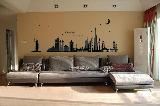 aliexpresscom buy new fashion diy home decoration dubai silhouette luminous paste pvc removable wall stickers home decor romantic from reliable sticker - Home Decor Dubai
